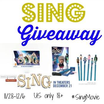Sing Prize Pack + $25 Fandango Gift Card Giveaway {US | Ends 12/06}