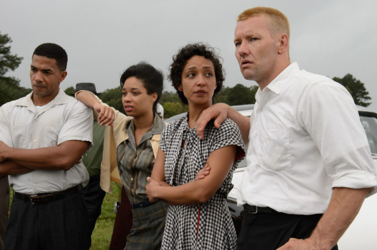 Ruth Negga (2nd from right) stars as Mildred and Joel Edgerton (right) stars as Richard in Jeff Nichols LOVING, a Focus Features release. Credit : Ben Rothstein / Focus Features