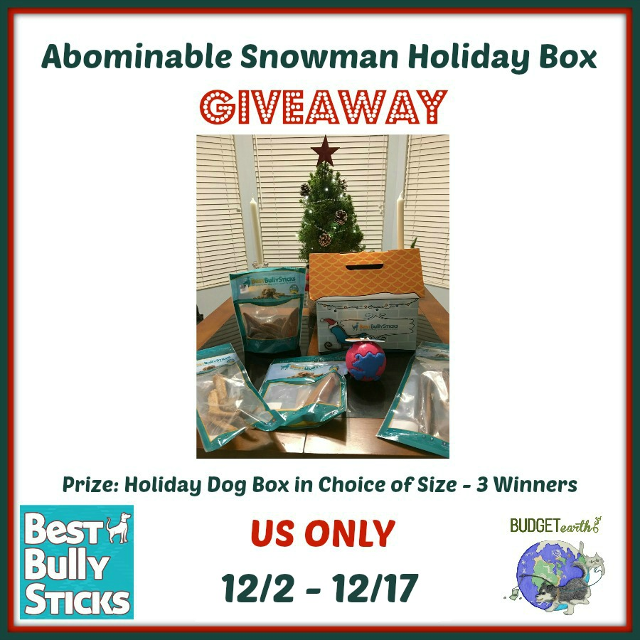 Abominable Snowman Giveaway {3 WINNERS | US | Ends 12/17}