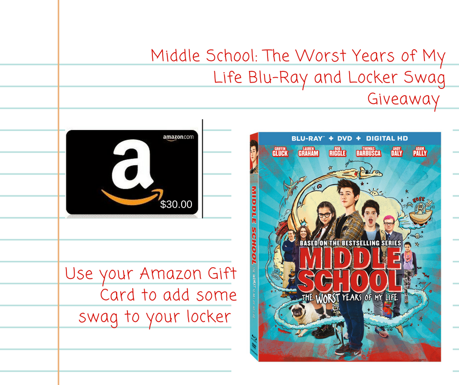 Middle School: The Worst Years of My Life Locker Swag Giveaway {US | Ends 01/13}