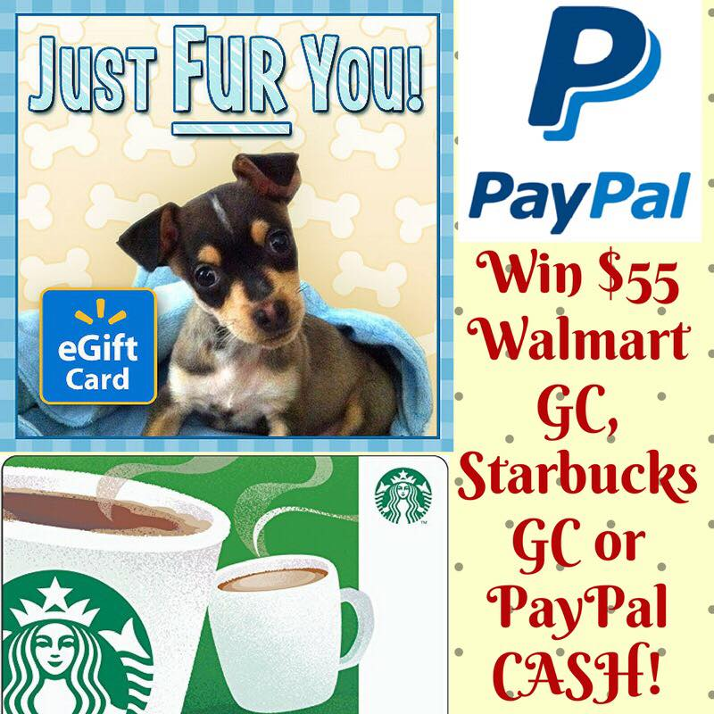 $55 Walmart, Starbucks, or PayPal CASH Giveaway {WW   Ends 02/24}