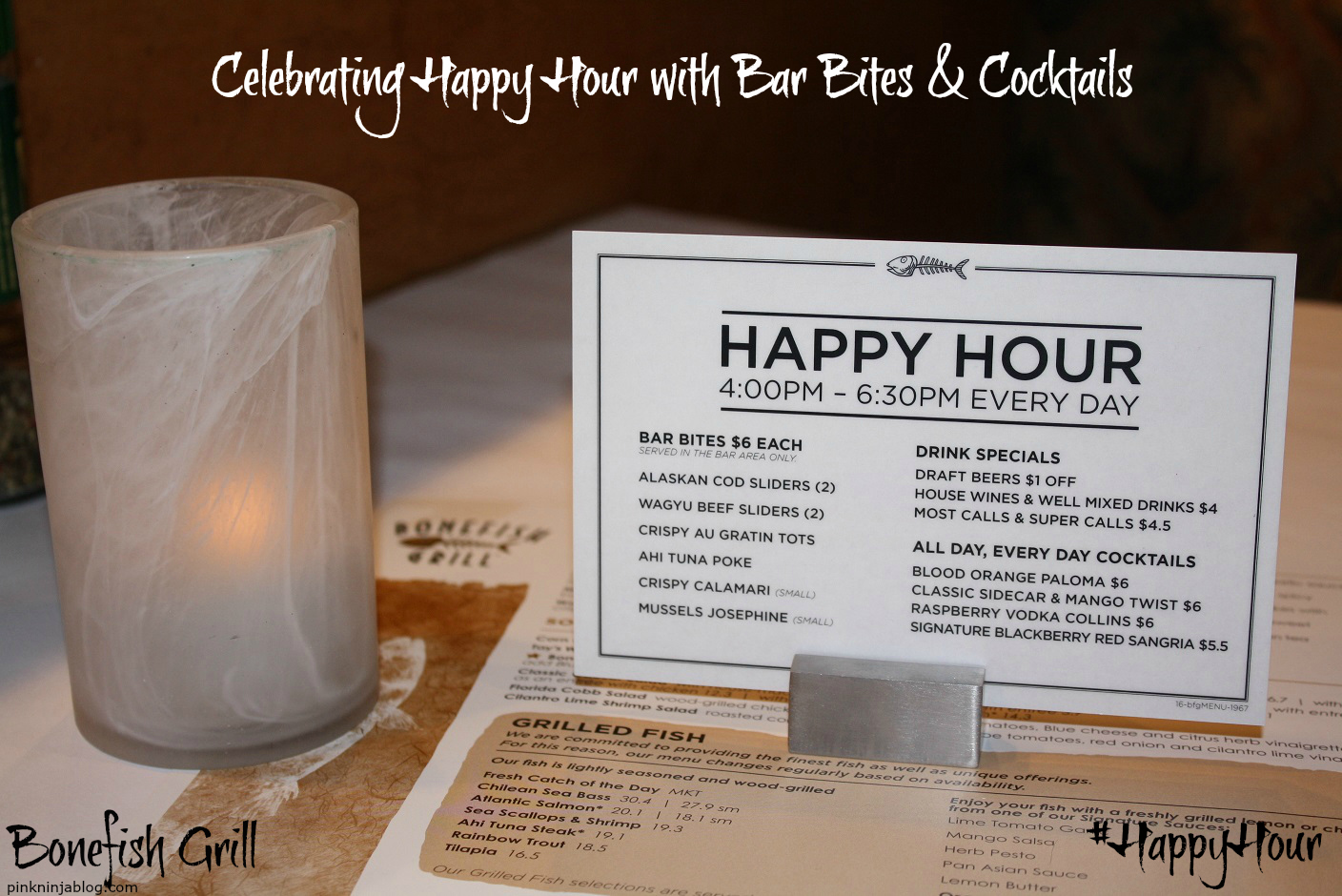 Bonefish Grill ~ Celebrating Happy Hour with Bar Bites & Cocktails