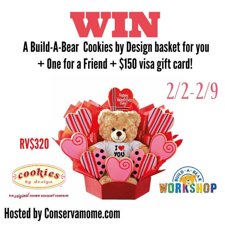 Build A Bear +Cookies By Design GIVEAWAY {US | Ends 02/09}