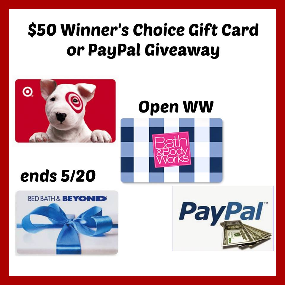$50 Winner's Choice Gift Card Giveaway {WW | Ends 05/20}