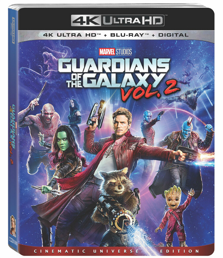 Marvel's Guardians of the Galaxy Vol. 2 on Digitally in HD and 4K Ultra HD, on 4K Ultra HD and Blu-ray on Aug. 22